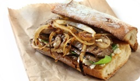 Grover Butchers Recipe Buffalo Steak Sandwich