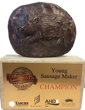 Grover Butchers Sausage and Pie Gold Winners 2015