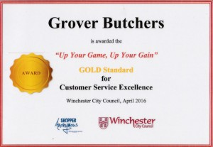 Grover Butchers Gold Award for Customer Service