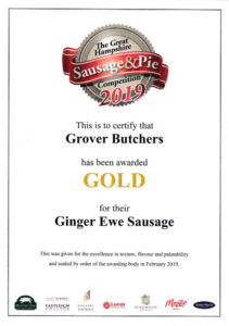 Gold for Ginger Ewe Sausage